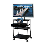 VTI FDC4218E Mobile Cart with 42 inch TV Mount and Drawer