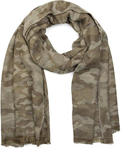 mit Fransen multicolor mit bunten Streifen Merino Strickschal aus 100/% Wolle