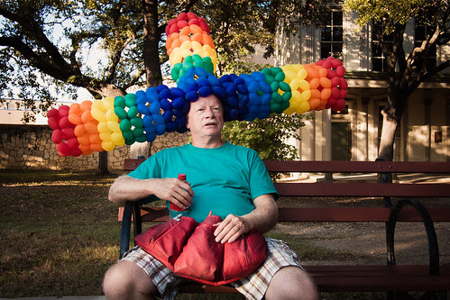The Technicolor Balloon Hat by Jesse Acosta
