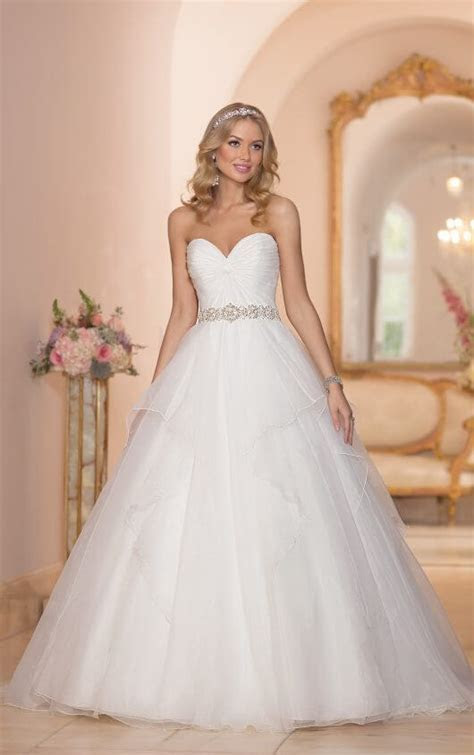 Strapless Organza Ball Gown Wedding Dress   Stella York