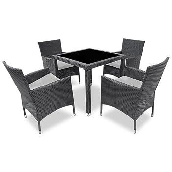 Pas cher salon de jardin terrasse gris ensemble 4 for Ensemble table et 4 chaises pas cher