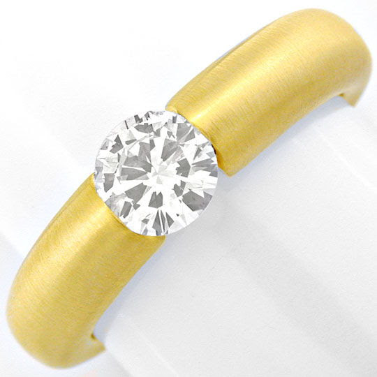Originalfoto DIAMANT-SPANN-RING, BRILLANT 0,57ct 18K-GELB LUXUS! NEU