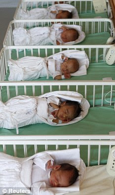 Expensive: The cost of a week's hospital care for the five babies is a staggering £35,000 for the taxpayer (File photo)