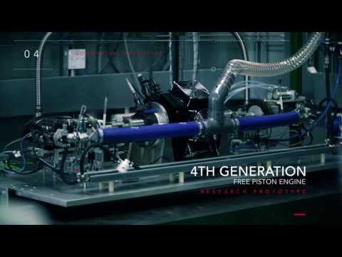 Free-piston Engine Range Extender Technology Свободно-поршневые двигатели