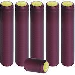 PVC Heat Shrink Capsules For Wine Bottles - 100 Count (Burgundy)
