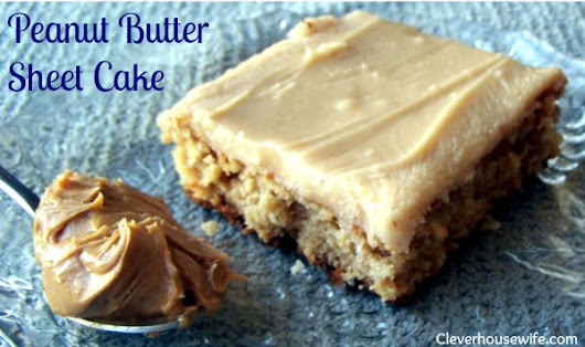 Peanut Butter Sheet Cake Recipe - Oh. So. Yummy.