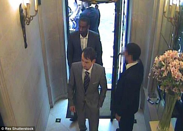 Disguised: Three Panthers posed as VIP clients to get inside theGraff Diamonds store on New Bond Street, London, in 2003 before they pulled out a handgun and stole 47 pieces of jewellery worth £23million