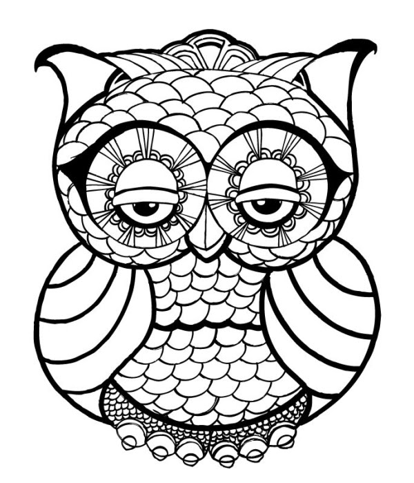 4400 Owl Coloring Pages For Adults Free Printable For Free