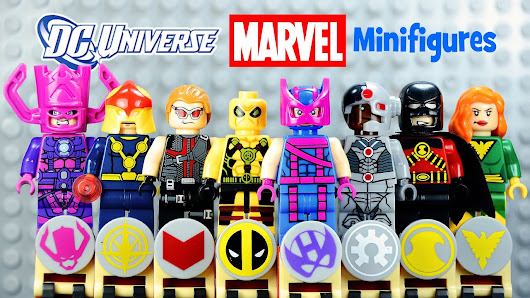 DC vs Marvel Superheroes LEGO KnockOff Minifigures Set 10 Galactus ...