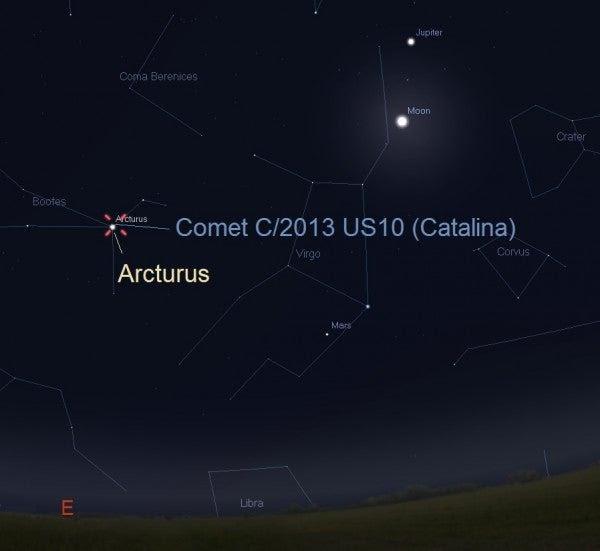 La última oportunidad de ver al cometa Catalina antes de que el Sol lo expulse del sistema