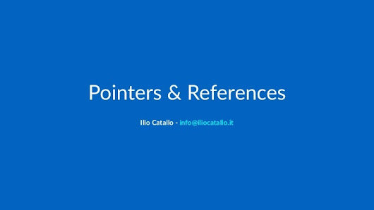 Pointers & References