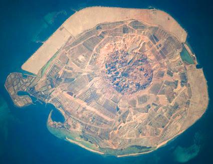 ISS022-E-058538 -- Sir Bani Yas Island