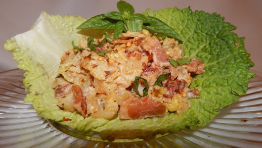 Savoy Cabbage in Cream Sauce with Bacon and Onions