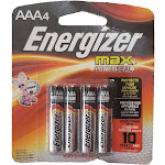 Energizer MAX AAA Batteries, Designed To Prevent Damaging Leaks (4 Each)