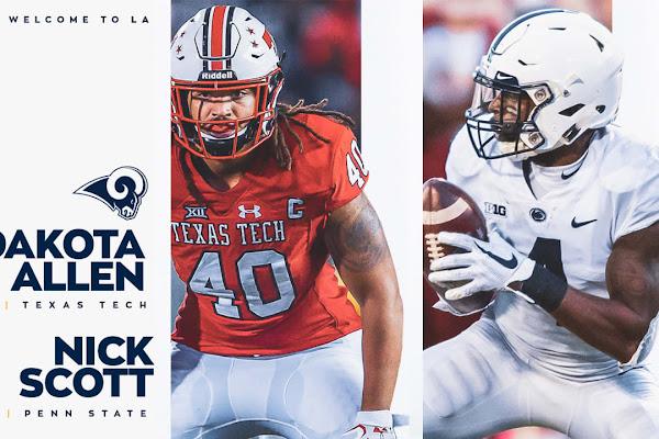 b8e833820b0 news Rams wrap up 2019 draft taking DB Nick Scott, LB Dakota Allen The Rams  capped