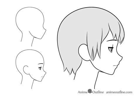 draw anime facial expressions side view animeoutline