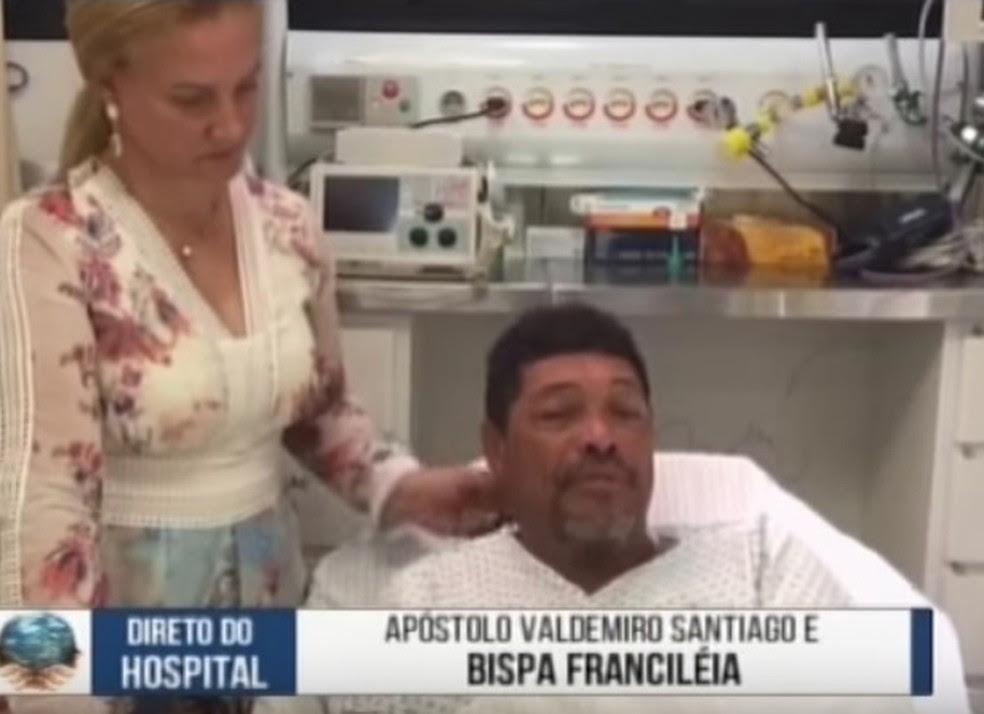 Apóstolo Valdemiro Santiago postou vídeo sobre ataque em culto (Foto: Reprodução)