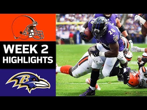 Browns vs Ravens - Week 2 Highlights