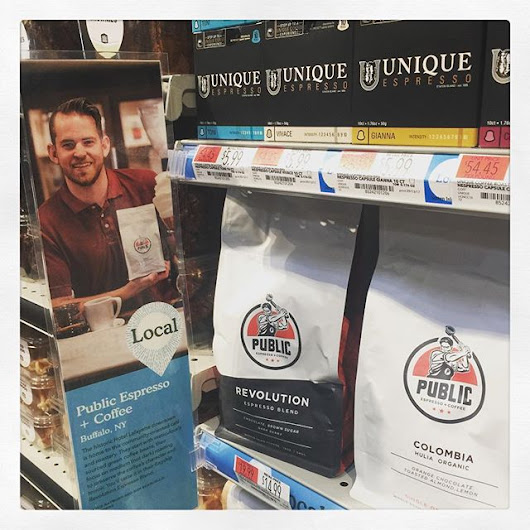 Is that @archerandsometimessam I spy holding a bag of @publicespresso here at @wholefoodsbuffalo - Fancy Title Here