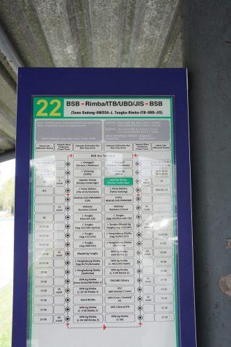 バス停のバス路線図