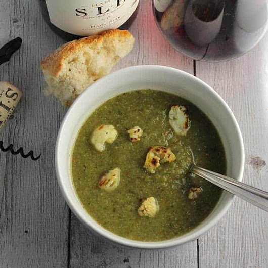 Roasted Cauliflower Kale Soup Paired with Pinot | Cooking Chat