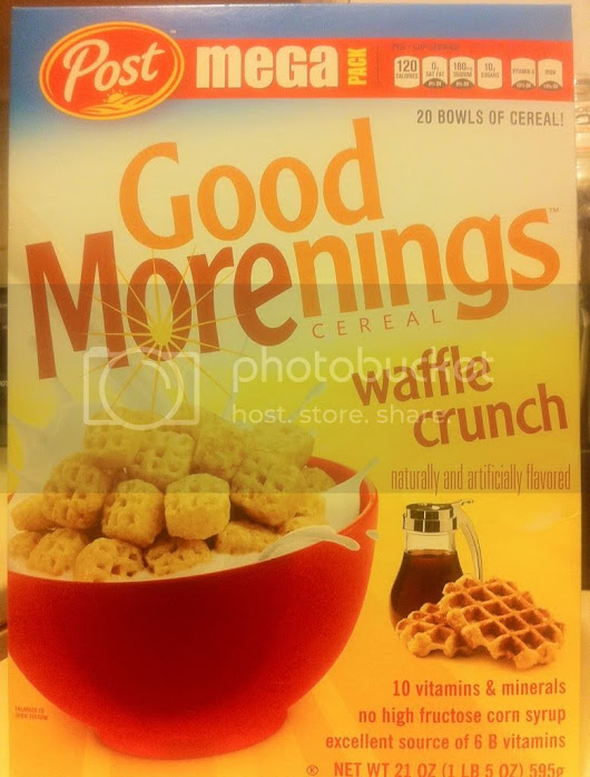 Monday is cereal day! Reveiw : Post good Morenings waffle crunch