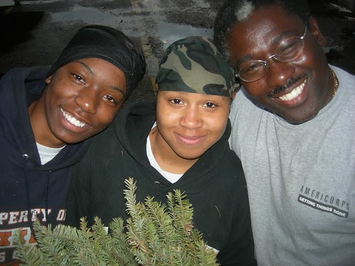 Recycling trees: Adriana Poland, Shanace Robinson & Lee Jeter, Shreveport by trudeau