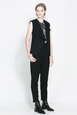 Zara Drape-Front Waistcoat Vest