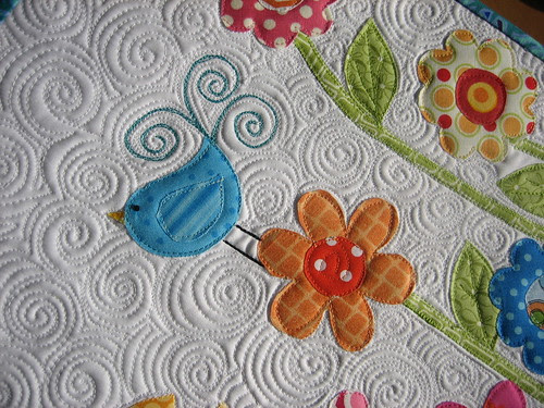 """Quilting Detail - """"Flowers"""""""