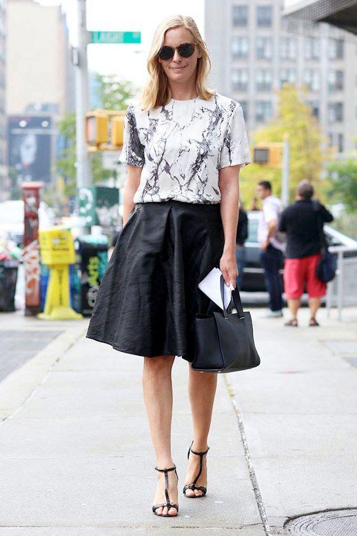 Le Fashion Blog 9 Ways To Wear Marble Print Crackle Balenciaga Top Black Full Skirt Via Elle Street Chic photo Le-Fashion-Blog-9-Ways-To-Wear-Marble-Print-Crackle-Balenciaga-Top-Via-Elle-Street-Chic.jpg