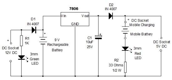 Capacitor Power Bank Circuit