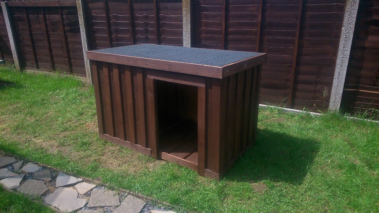 Build Your Own Dog Kennel Out Of Pallets - YouTube