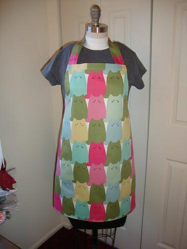 my cat apron
