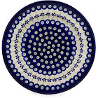 Polish Pottery Pasta Bowl 9-Inch Flowering Peacock