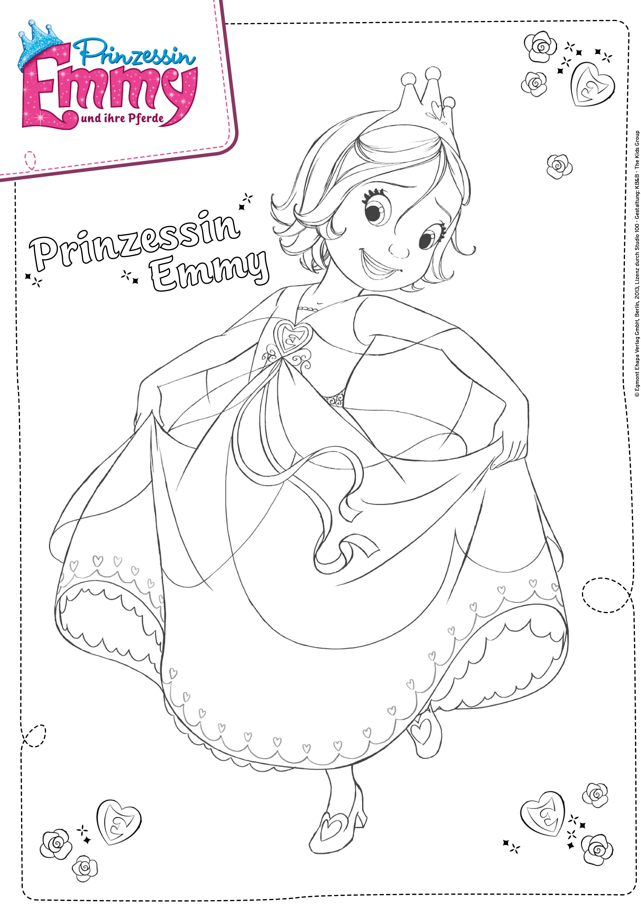 Einfach auf Prinzessin Emmy Malvorlage klicken über den Prinzessin Emmy Download ausdrucken und ausmalen Viel Spaß damit