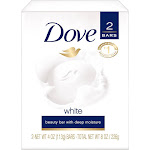Dove White Moisturizing Cream Bars - 2 pack, 4 oz each