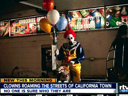 WATCH: Mysterious clowns appear at night in California city