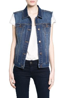 Mango Dark Denim Gilet