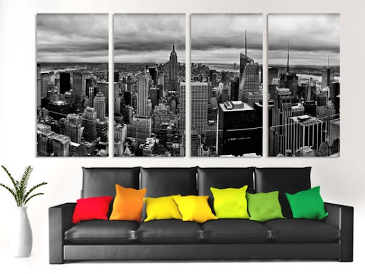 Large  4 Panel Split  Beautiful New York City by CanvasQuest