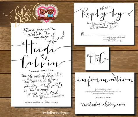 Printable Wedding Invitation Suite (w0220), In Hand