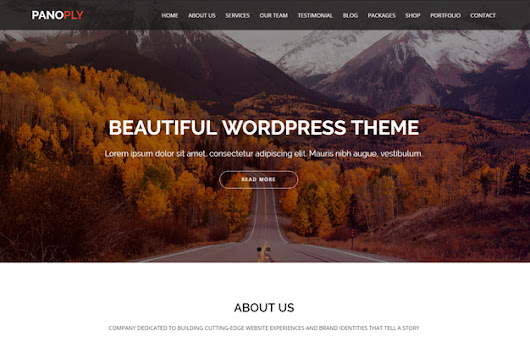 Panoply - One Page Multipurpose WordPress Theme