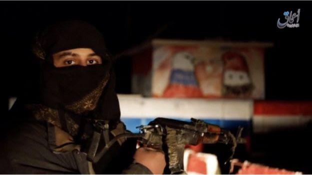 Militante do EI na Síria