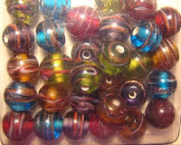 handcrafted glass beads, lampwork glass beads