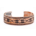 Handmade Certified Authentic Navajo Pure Copper Native American Bracelet 24453