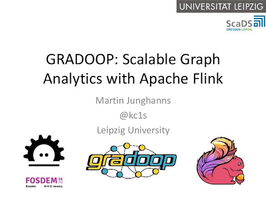 Gradoop: Scalable Graph Analytics with Apache Flink @ FOSDEM 2016