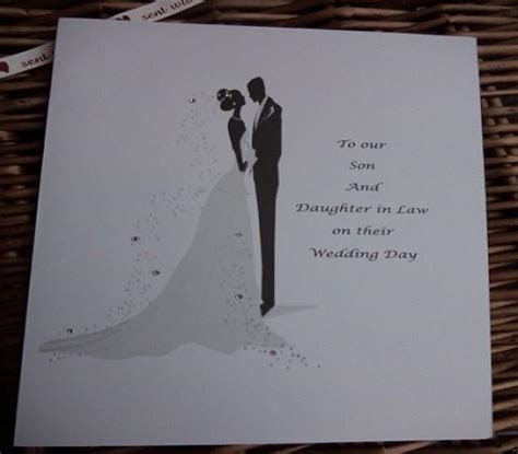 Wedding Day Card For Son And Daughter In Law, Personalised