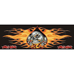 Flaming Skull Spade Graphic Lethal Threat LT-02012 Pilot Decal