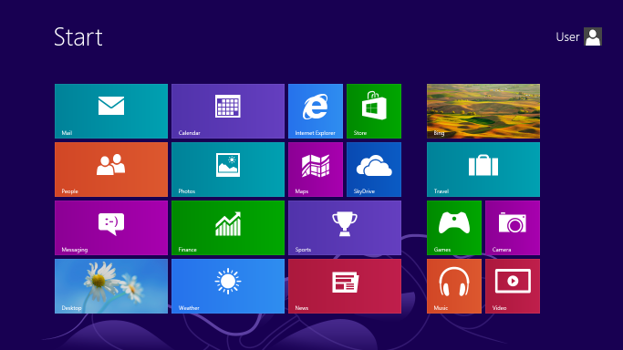 Start Menu Microsoft Windows 8