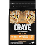 Crave Grain Free Dry Cat Food with Protein From Chicken - 4lbs