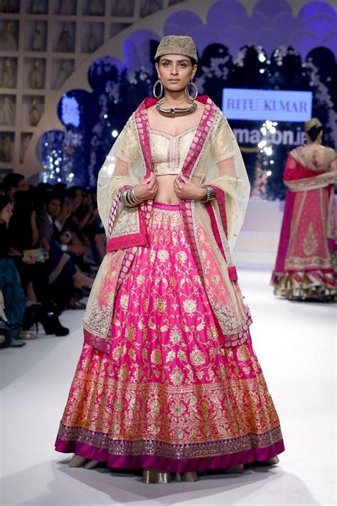 Our first lehenga from our Benaras project.   AIFW 2015